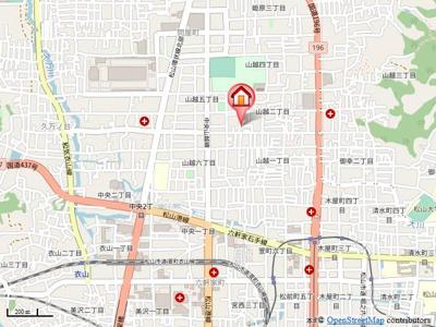 【地図】ラ・メゾン
