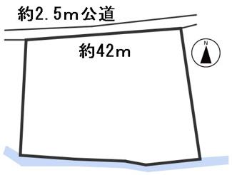 【区画図】55600 瑞穂市牛牧土地