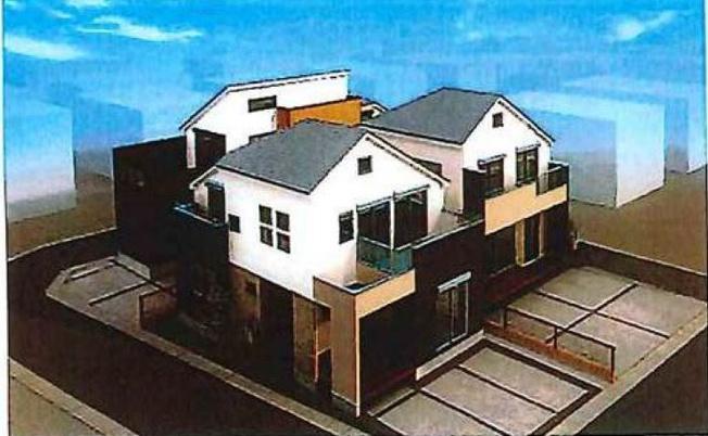 【外観パース】中野区上鷺宮1丁目 新築一戸建 西武池袋線 富士見台