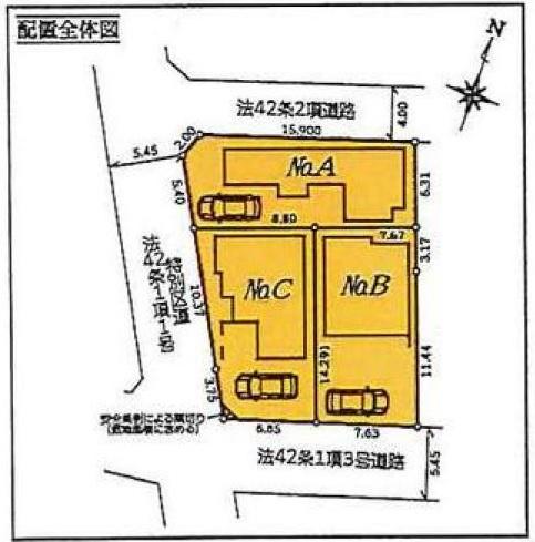 【区画図】中野区上鷺宮1丁目 新築一戸建 西武池袋線 富士見台