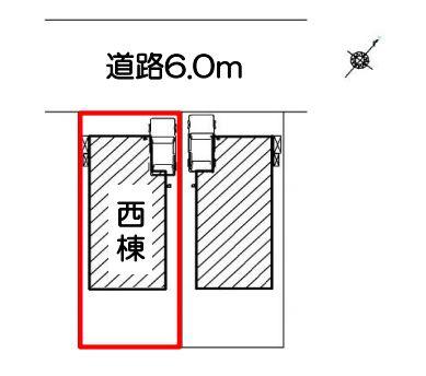 【区画図】静岡市清水区川原町 新築一戸建て 西棟 FF