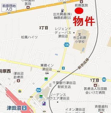 【地図】フォーブル前原Ⅱ