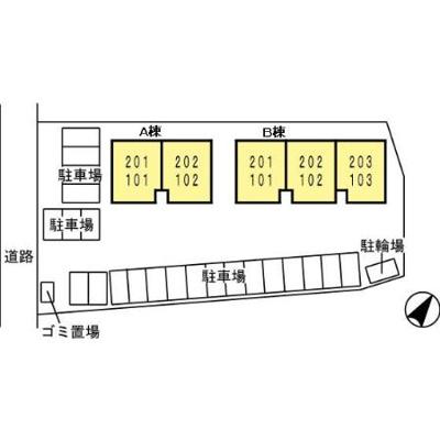 【区画図】ラレス H・A B棟