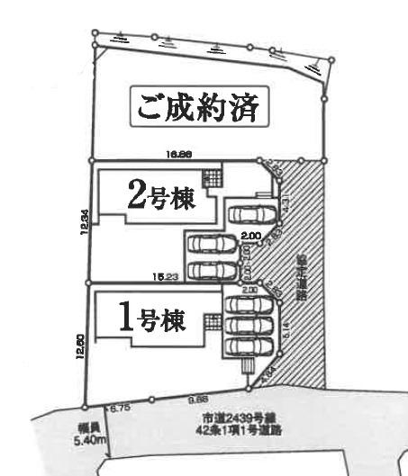 【区画図】安中市原市 1号棟