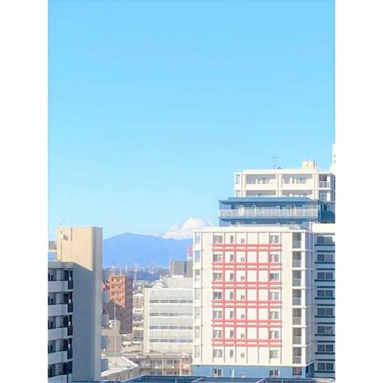天気の良い日には富士山が見えます