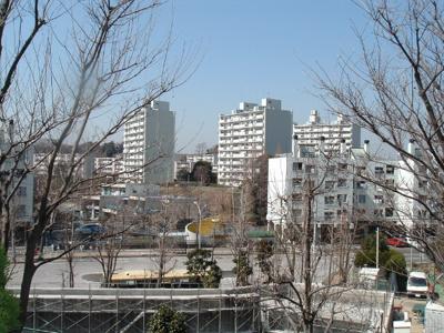 竹山団地の街並み