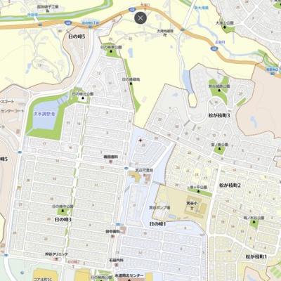 【地図】日の峰1丁目 中古戸建