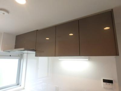 キッチン上棚の収納とレンジフード