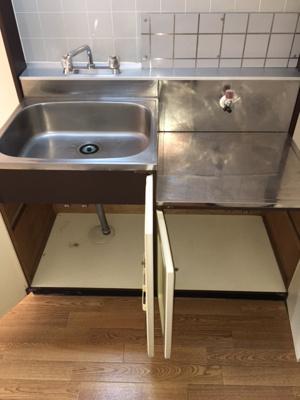 コンパクトなキッチンで掃除もラクラク。メゾン・ド・ベル