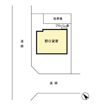 【区画図】野口貸家