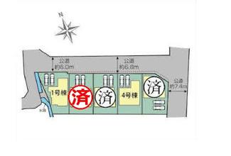 【区画図】裾野市富沢2期 新築戸建 全5棟 (4号棟)