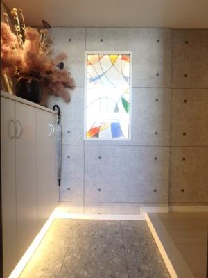 玄関のステンドグラス