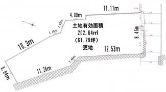 【土地図】宝塚市雲雀丘山手1丁目  建築条件無売土地