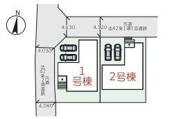 区画図です。1号棟