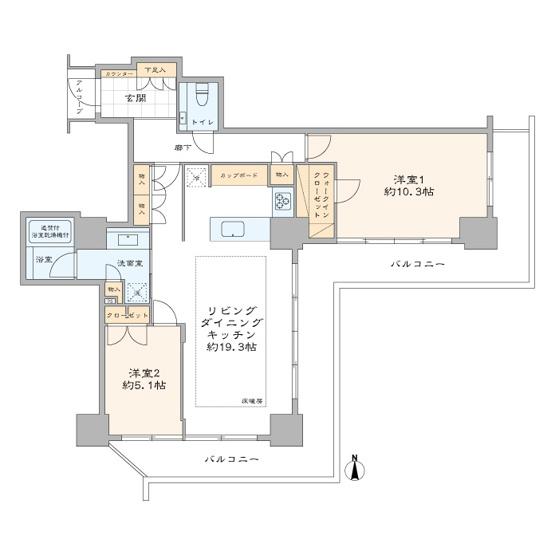 恵比寿ガーデンテラス壱番館:約84㎡の2LDK新規内装リノベーション物件!ワイドバルコニーの付いた14階部分のお部屋をご見学してみませんか?