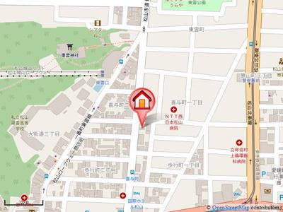 【地図】パルフェ喜与町