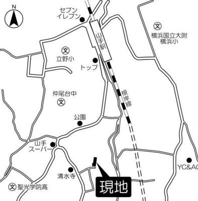 【地図】グランビュー山手