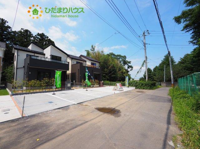 【前面道路含む現地写真】水戸市文京1丁目 新築戸建 2号棟