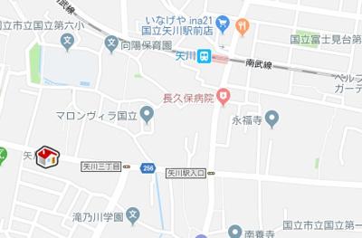 【地図】レオネクストショコラ国立(52846-104)