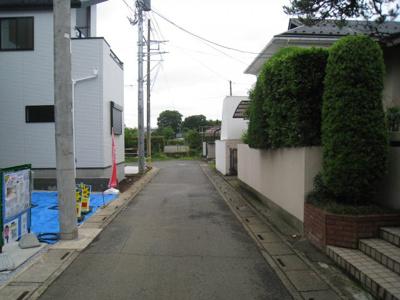 前面道路含む現地写真です 2.3号棟