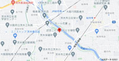 【地図】メイプルヴィラ茨木II