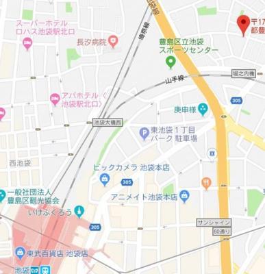 【地図】ルミナ池袋