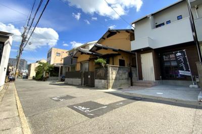 【前面道路含む現地写真】伏見区桃山町西尾 新築戸建