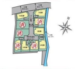 【区画図】宿河原 2階建て新築全10棟