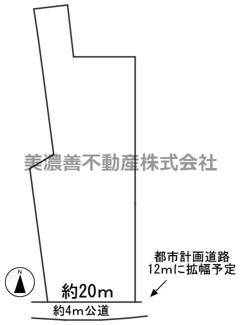 【区画図】56768 不破郡垂井町宮代土地