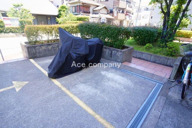 【バイク置き場】空有。300円/月。