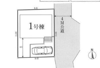 【区画図】京王よみうりランド 徒歩3分 新築戸建て
