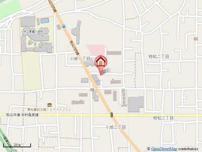 【地図】小坂マンション