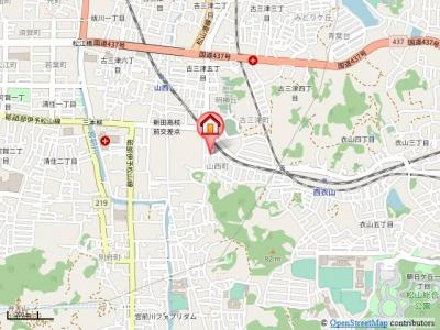 【地図】アパ・シティ21・イン・山西