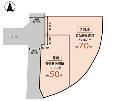 【区画図】神戸市垂水区南多聞台4丁目 2号地