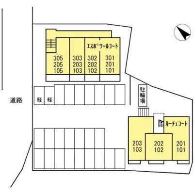 【区画図】エスポワール コート/ルーチェ コート エスポワール コート