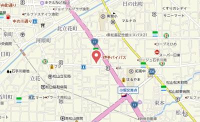 【地図】サザンコートⅢ