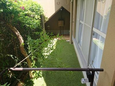 1階ならでは!の専用庭付き。緑があると、気分が安らぎますね。