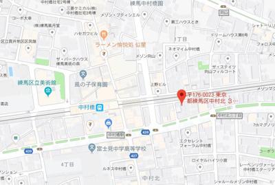 【地図】スカイコート中村橋第2