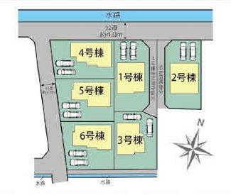 【区画図】三島市徳倉3丁目 新築戸建 全6棟 (3号棟)