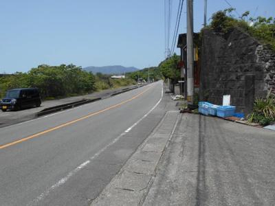 【前面道路含む現地写真】奈半利町店舗・倉庫用地