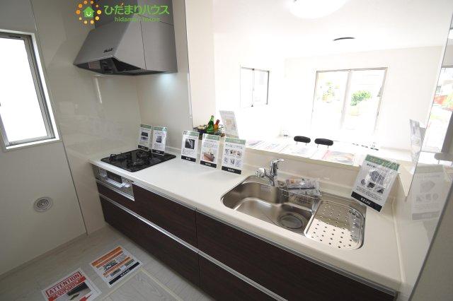 奥様に少しでもゆとりと笑顔を・・・(*^^*) キッチンから洗面所へのスムーズな動線が、家事の効率をUPしてくれます!