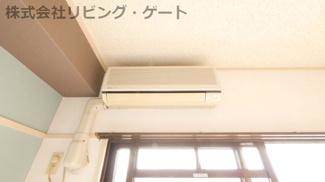 リビングにエアコンあります。夏も冬も快適ですね!