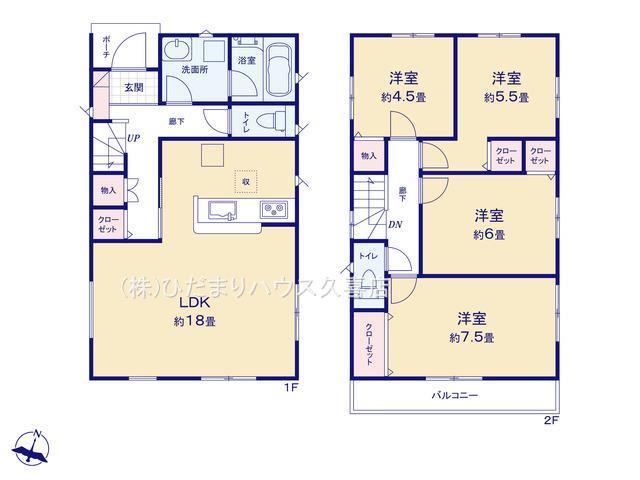 2階に4部屋♪お子様部屋も用意してあげられますね。