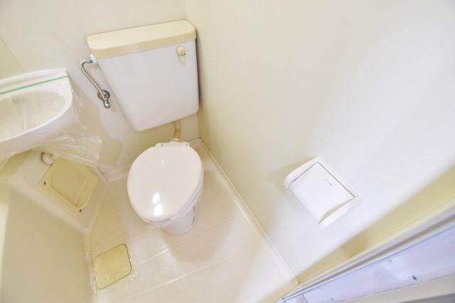 すっきりシンプルなトイレ。