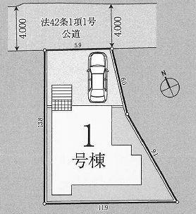 【区画図】板橋区西台1丁目 新築戸建