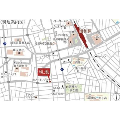 【地図】アクシーズタワー浦和岸町Ⅱ
