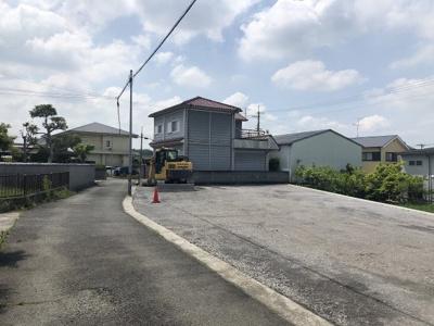 【前面道路含む現地写真】三木市加佐売土地B号地