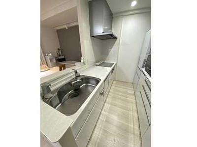 【セミオープン】 キッチンからリビングも見渡すことができ、 浄水器一体型ハンドシャワー水栓、 一度に5人分の食器が洗える食器洗い乾燥機、 更に、収納力が格段にUPするカップボード! IHも備えます。