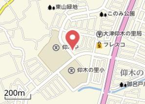 【地図】仰木の里⑥ 貸家