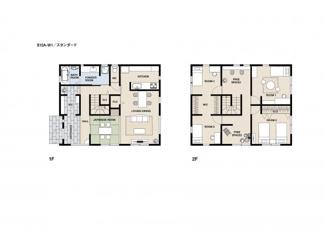 ジブンハウス仕様プラン例 建物面積130.00m2 建物価格1830万円
